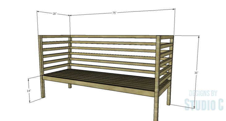 DIY Plans to Build a Penn Outdoor Daybed
