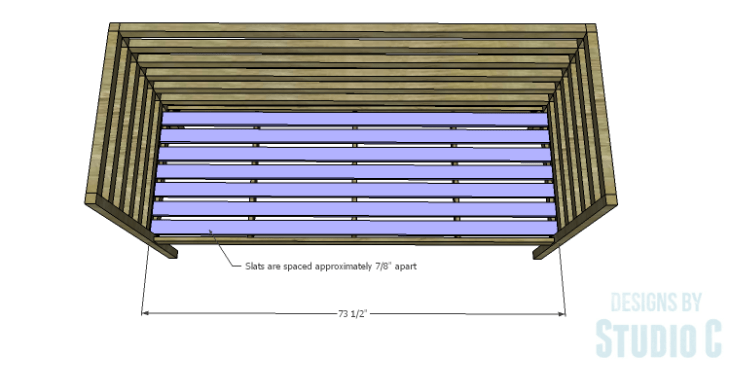 DIY Plans to Build a Penn Outdoor Daybed_Seat Slats