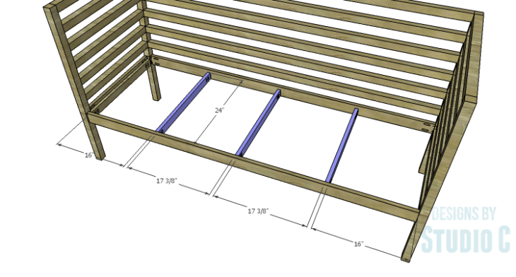 DIY Plans to Build a Penn Outdoor Daybed_Seat Supports