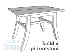 An Easy To Build Curved Leg Footstool
