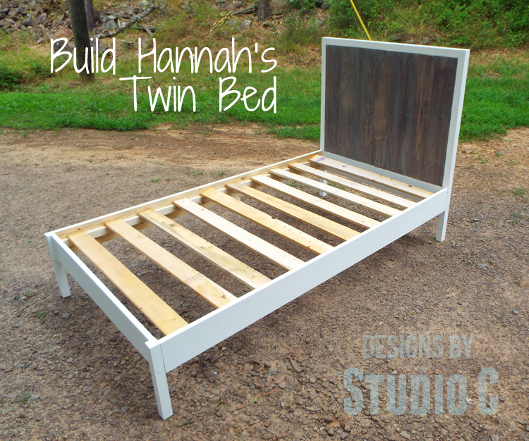 diy plans to build hannahs twin bed_featured - Diy Twin Bed Frame