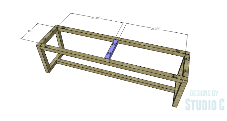 DIY Plans to Build a Katherine Buffet_Base Center Support