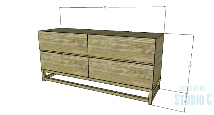 DIY Plans to Build a Port Modern Dresser
