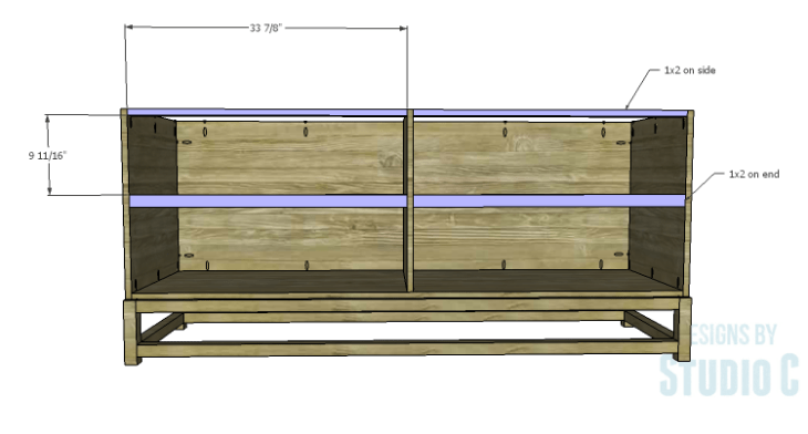DIY Plans to Build a Port Modern Dresser_Front Stretchers