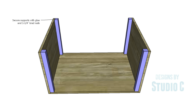 DIY Plans to Build an Upholstered Ottoman_Corner Supports