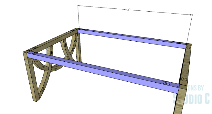 DIY Plans to Build a Curved Base Coffee Table_Front & Back Stretchers