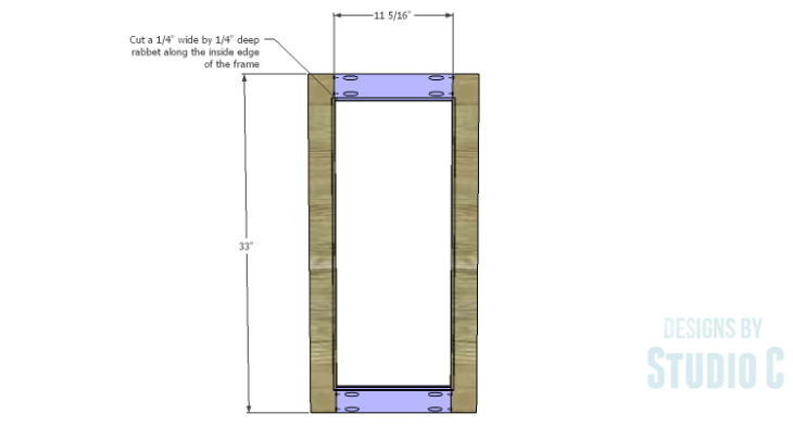 DIY Plans to Build a Hanson Media Console_Center Doors 1