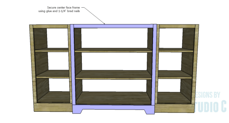 DIY Plans to Build a Hanson Media Console_Center Frame 2