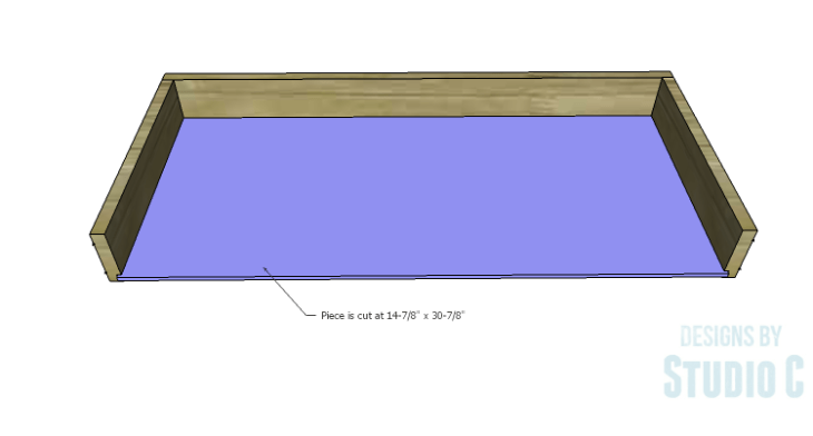 DIY Plans to Build a Long Paneled Sideboard_Drawer Bottom