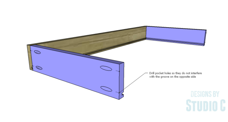 DIY Plans to Build a Long Paneled Sideboard_Drawer Sides & Back 2