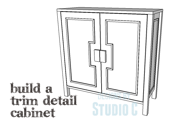 A Cabinet with Simple Trim on the Doors & Sides