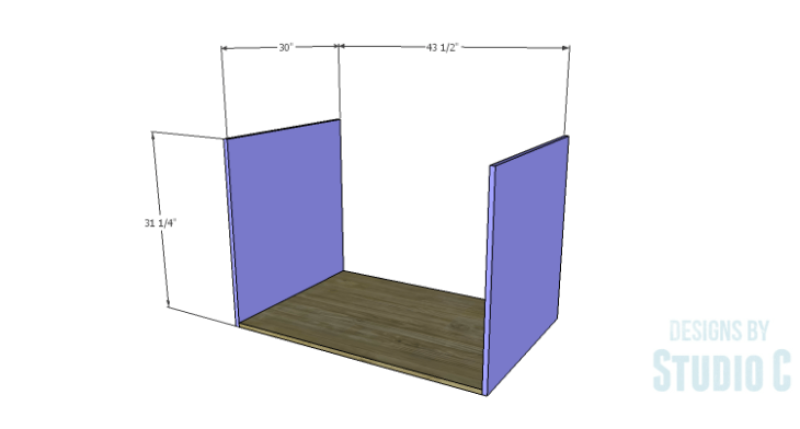 DIY Plans to Build a Carey Kitchen Island_Sides & Bottom