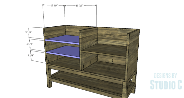 DIY Plans to Build a Caroline Buffet_Shelves 2
