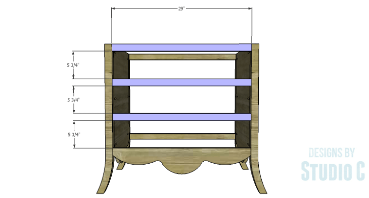 DIY Plans to Build a Celia Dresser_Front Stretchers