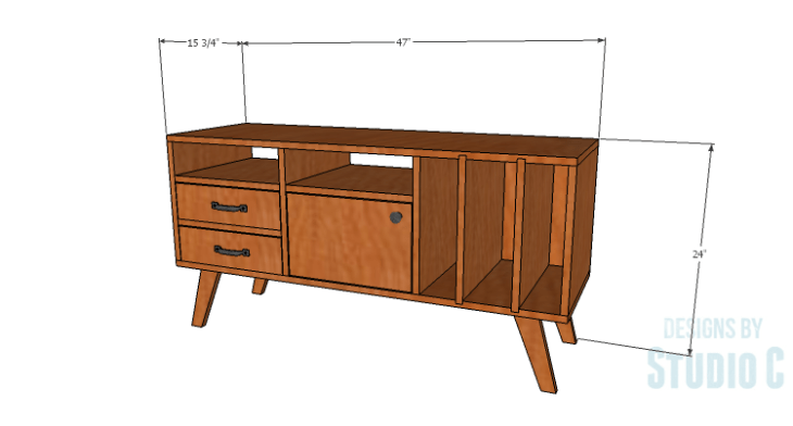 DIY Plans to Build a Mid Century Modern Cabinet