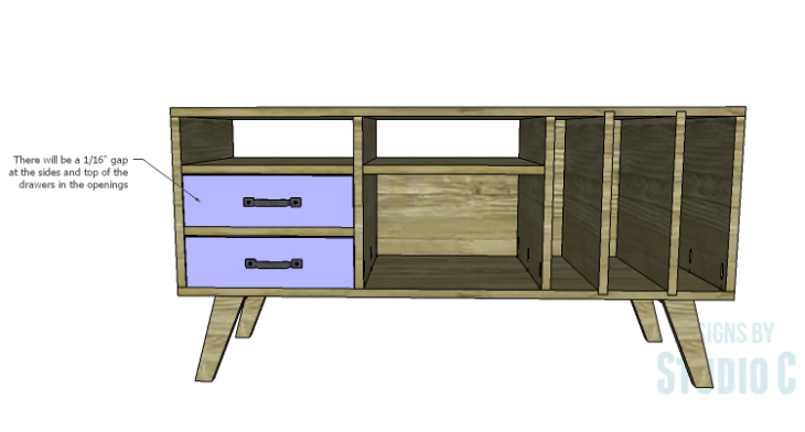 DIY Plans to Build a Mid Century Modern Cabinet_Drawers 4