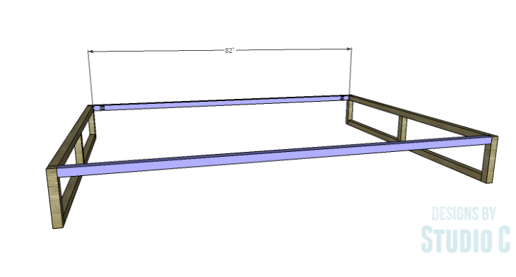 DIY Plans to Build a Modern+Rustic Queen Platform Bed_Base Rails