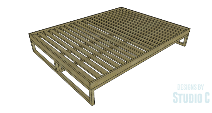 DIY Plans to Build a Modern+Rustic Queen Platform Bed_Copy 2