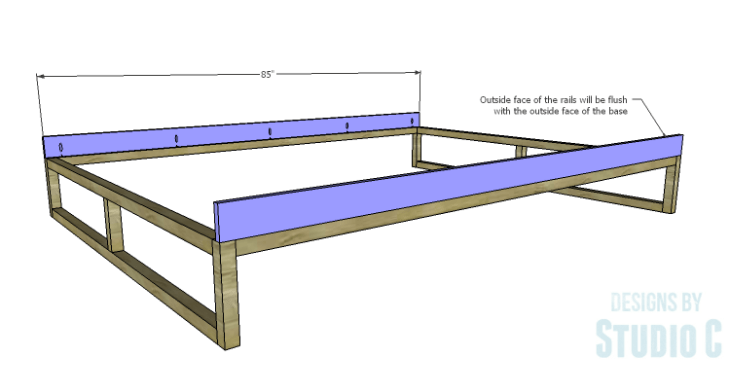 DIY Plans to Build a Modern+Rustic Queen Platform Bed_Rails 1