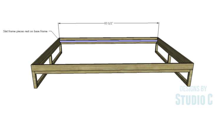 DIY Plans to Build a Modern+Rustic Queen Platform Bed_Slat Frame 1