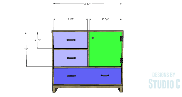 DIY Plans to Build a Carson Cabinet_Fronts