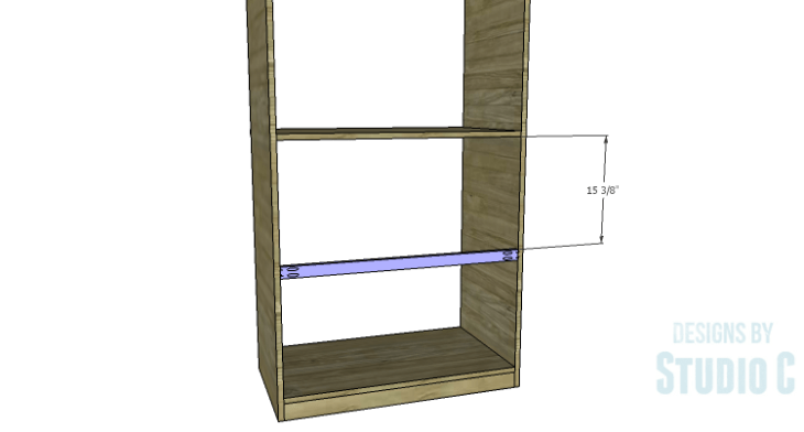 DIY Plans to Build a Country Pantry_Lower Back Stretcher