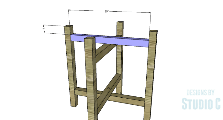DIY Plans to Build a Cross-Leg End Table_Stretchers 2