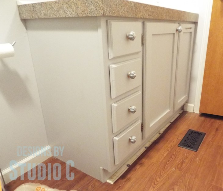 DIY Plans to Build a Bath Vanity with a Built-In Clothes Hamper_Completed