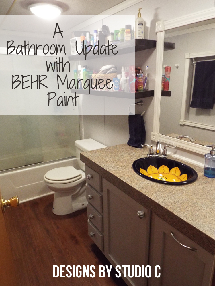 behr bathroom paintAn Update to a Dated Bathroom with BEHR Marquee  Designs by Studio C