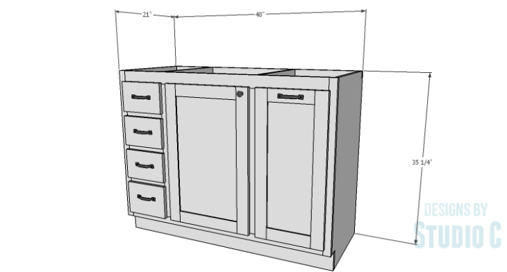 DIY Plans to Build a Bath Vanity with a Built-In Clothes Hamper