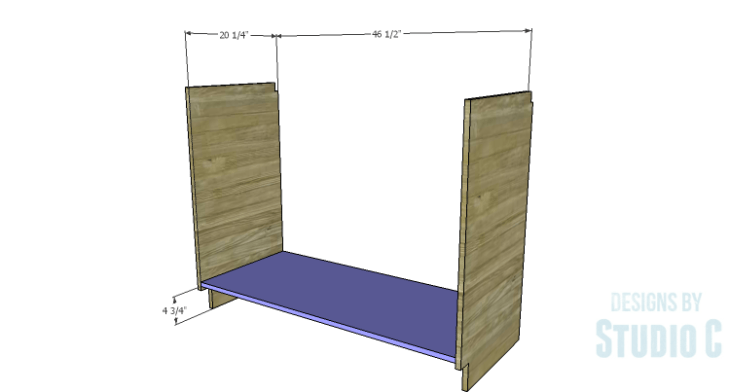 DIY Plans to Build a Bath Vanity with a Built-In Clothes Hamper_Bottom