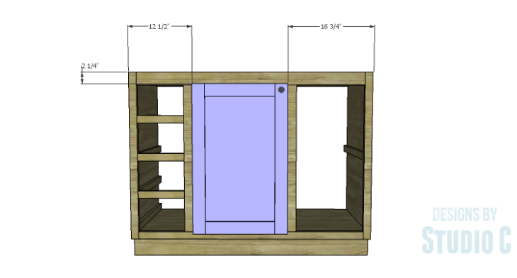 DIY Plans to Build a Bath Vanity with a Built-In Clothes Hamper_Cabinet Door 2