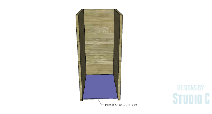 DIY Plans to Build a Bath Vanity with a Built-In Clothes Hamper_Hamper Box Bottom