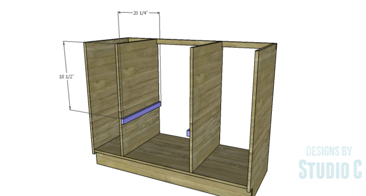 DIY Plans to Build a Bath Vanity with a Built-In Clothes Hamper_Shelf Supports