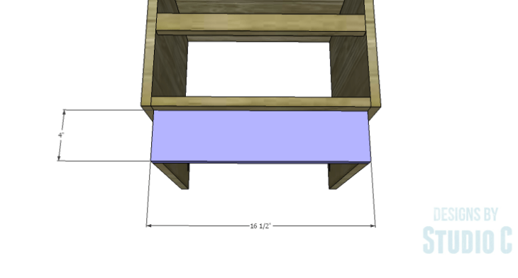 DIY Plans to Build a Mayweather Nightstand_Kick Plate