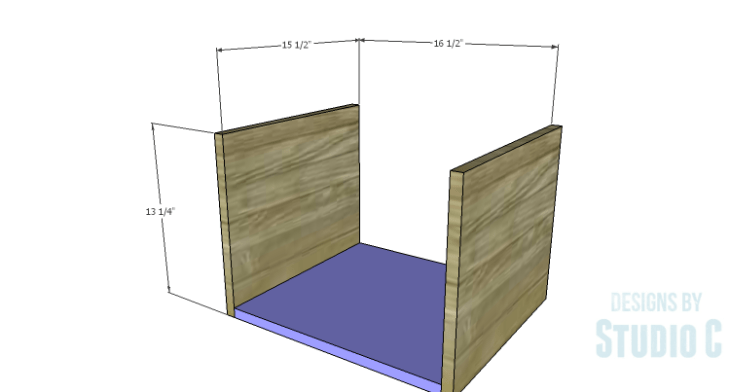 DIY Plans to Build a Mayweather Nightstand_Sides & Bottom