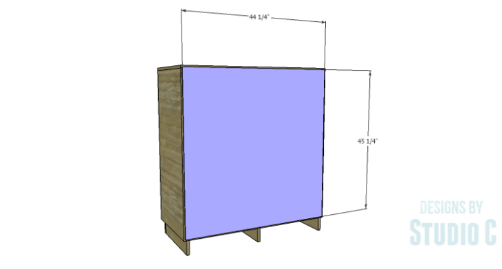 DIY Plans to Build a Mayweather Tall Dresser_Back