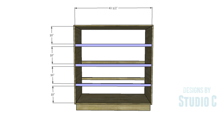 DIY Plans to Build a Mayweather Tall Dresser_Front Stretchers
