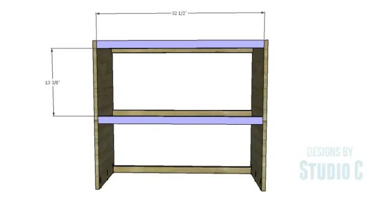 DIY Plans to Build a Brecken Dresser Hutch-Front Stretchers