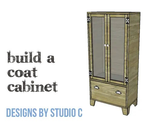 DIY Plans to Build a Coat Cabinet-Copy