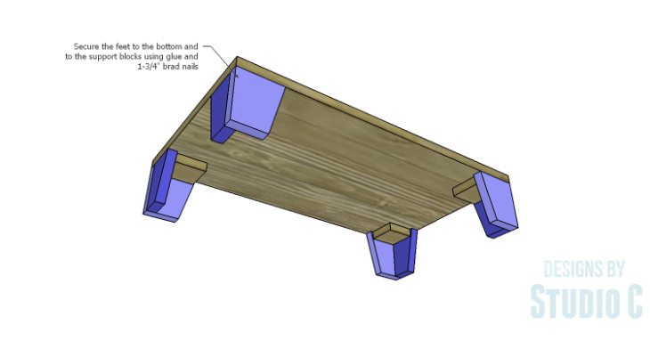 DIY Plans to Build a Coat Cabinet-Feet 2