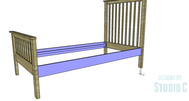 DIY Plans to Build a Delilah Twin Bed-Side Rails 2