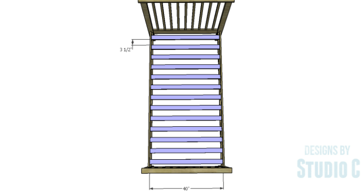 DIY Plans to Build a Delilah Twin Bed-Slats