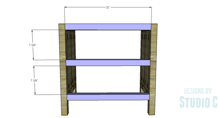 DIY Plans to Build Hannah's Nightstand-Front Stretchers