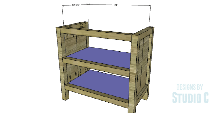 DIY Plans to Build Hannah's Nightstand-Shelves