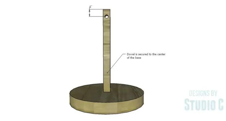DIY Plans to Build a Rustic Cantilevered Desk Lamp-Dowel Post & Base