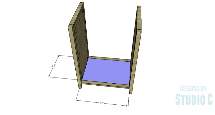 DIY Plans to Build a Tall Cabinet Base-Bottom