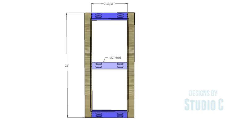 DIY Plans to Build a Tall Cabinet Base-Doors 1