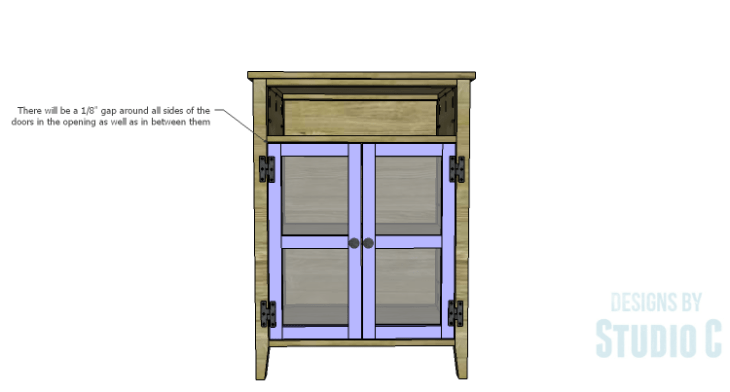 DIY Plans to Build a Tall Cabinet Base-Doors 3