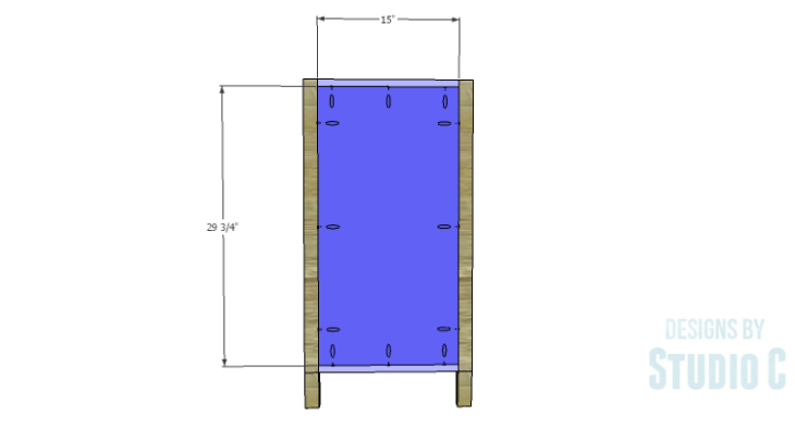 DIY Plans to Build a Tall Cabinet Base-Sides